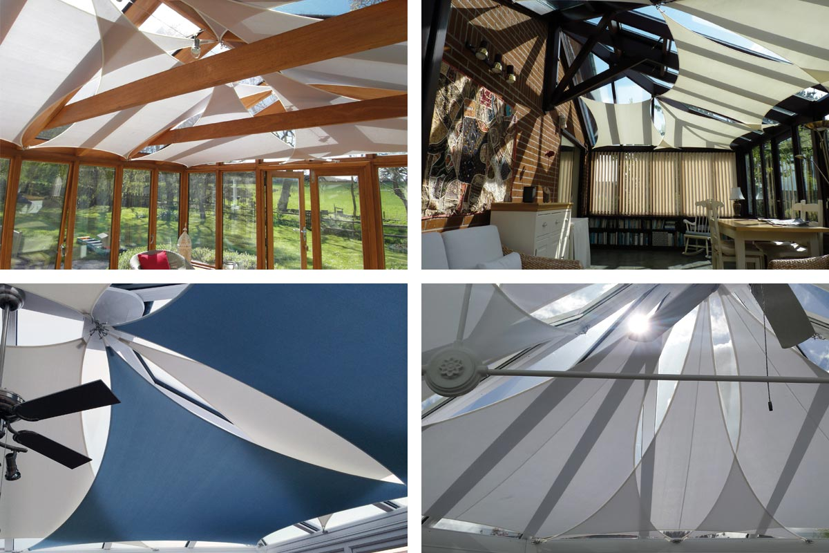 Conservatory sail blinds for the home or commercial spaces